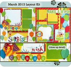 scrapbooking layout kit with instructions by premierscrapbookdesigns.com
