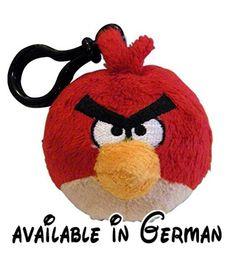 B004KRX96G : Mayflower Distributing Angry Birds Stofftier. Bag Clip Red Bird. Plüsch. Schlüsselanhänger. Rucksackanhänger