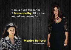 """Italian actor Monica Bellucci credits her youthful beauty to natural remedies. """"I am a huge supporter of homeopathy. I'll try the natural treatments first of all and only later I'll see if I need the traditional hormone therapies,"""" she said Natural Treatments, Natural Remedies, Italian Actress, Monica Bellucci, Homeopathy, Therapy, Actresses, Actors, Celebrities"""
