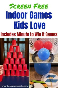Fun Indoor Games and Activities for Kids. Keep the kids off of screens by having a blast playing these games. Family game night ideas too! Great for rainy days and snowy days. check them out! fun family Fun Rainy Day Activities for Kids & Indoor Games Rainy Day Games, Kids Activities At Home, Rainy Day Activities For Kids, Fun Indoor Activities, Indoor Activities For Kids, Fun Activities For Kids, Rainy Days, Kids Fun, Fun Kids Games Indoors