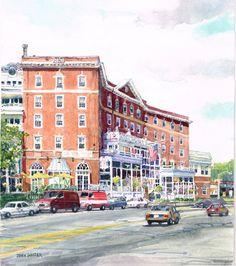 Original Watercolor Street Scene by GnatekBrothersStudio on Etsy