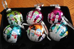 Christmas Craftiness: Preschool Handprint Santas & Snowmen Ornaments