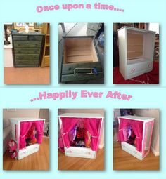Don't throw out those old wooden dressers. make a kid's dress up closet :) Haylie would love this! This was done by my cousin Laurie for her older sisters daughter. Hannah Banana loved it. Dress Up Closet, Dress Up Storage, Kids Dress Up, Boy Dress, Toddler Dress, Dress Up Boxes, Diy Bebe, Toy Rooms, Little Girl Rooms