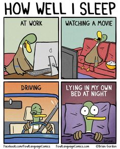 How Well I Sleep funny comics lol humor funny pictures funny photos funny images hilarious pictures Funny Duck, The Funny, Fowl Language Comics, Duck Cartoon, Sleep Cartoon, Cartoon Humor, Cartoons, Humor Grafico, Sleep Deprivation
