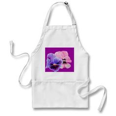 Pink and Purple Pansy Apron