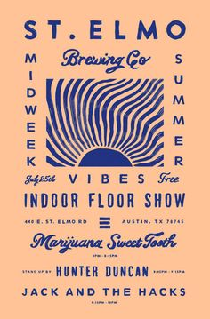 Vintage Graphic Design Floor Show Night II by Keith Davis Young - Posters made for St. Elmo's ongoing indoor floor shows they're hosting this Summer, a project headed up by my wife and close buds. Graphisches Design, Layout Design, Print Design, Logo Design, Design Trends, Graphic Design Posters, Graphic Design Typography, Summer Typography, Vintage Graphic Design