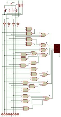 BCD to 7 segments logique diagram Plc Programming, Electronics Projects, Diagram, English Fun, Cod, Electric, Game, Books, Log Projects