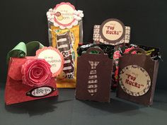 Mother's Day/Father's Day gifts from Little Miss Suzy Q.  Fun project to make in Primary or Young Women.