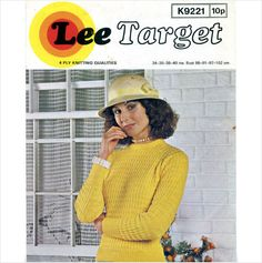 Ladies 4 ply sweater / jumper knitting pattern Lee Target patterns 9221 on eBid United Kingdom