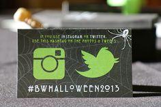Halloween Instagram Card.