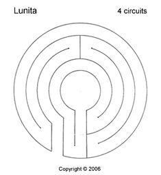 Lunita Labyrinth, 3 circuits - All For Garden