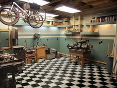 This guy is building a 1950's Crafstman garage. Not only is the garage themed in the Craftsman style, but all the tools and equipment he's acquiring for the project are vintage too! He won't get ANY work done…everyone will be hanging out there!