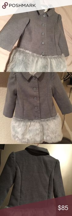 Janie and Jack Janie and Jack fur coat. Beautiful mint clean condition. Definitely a head turner unfortunately South Texas has no extreme cold climate so only worn twice. Paid over $200 with tax Janie and Jack Jackets & Coats