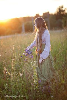 """She spent her happiest hours alone... """"In the Meadow"""" by loretoidas, via Flickr"""