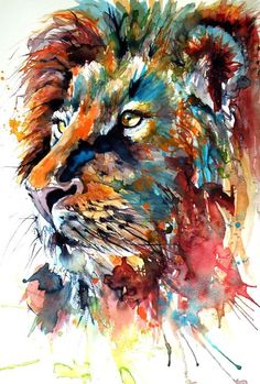 Buy Lion, Watercolour by Kovács Anna Brigitta on Artfinder. Discover thousands of other original paintings, prints, sculptures and photography from independent artists.