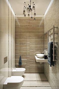 Interior design of the bathroom.  Дизайн интерьера ванной. Powder Room, Toilet, Bathrooms, Bathtub, Studio, Home, Design, Standing Bath, Flush Toilet