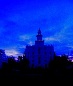 Church of Jesus Christ of Latter Day Saints St. George Temple blue