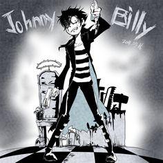 Cross over art of Johnny the homicidal maniac and Billy Joe Cobra Cartoon Ships, Cartoon As Anime, Anime Art, Dude Thats My Ghost, Hey Dude, Yandere, Mavis Hotel Transylvania, Johnny The Homicidal Maniac, Eyeless Jack