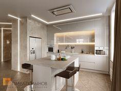 Фото дизайн кухни из проекта «Дизайн четырехкомнатной квартиры 117 кв.м. в стиле минимализм, ЖК «Премьер палас»»