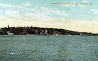 Barrie, from the Bay - 1910