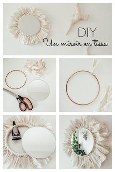 Diy Crafts For Home Decor, Bedroom Crafts, Diy Room Decor, Macrame Wall Hanging Diy, Creation Deco, Diy Mirror, Macrame Patterns, Boho Diy, Diy Wall Art
