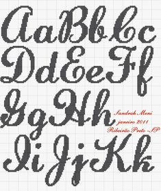 24 Marvelous Concepts For Blackwork Needlepoint Alphabet Make Charts Cross Stitch Alphabet Cross Stitch Embroidery Teeth Cursive Crossstitch Crochet Alphabet, Crochet Letters, Cross Stitch Alphabet Patterns, Cross Stitch Designs, Monogram Cross Stitch, Cross Stitch Love, Cross Stitching, Cross Stitch Embroidery, Cursive Alphabet