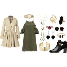 Date by night-elves on Polyvore featuring Mode, DailyLook, Ted Baker, Belk Silverworks, DKNY, Jaeger, Hueb, Erica Lyons, Bling Jewelry and WithChic