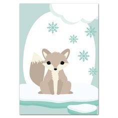 postkaart-woodland-antarctica-vos-voorkant-oktoberdots