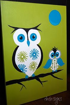 cute owls to paint