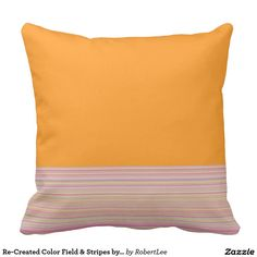 Re-Created Color Field & Stripes by Robert S. Lee Throw Pillows #Robert #S. #Lee #pillow #art #artist #graphic #design #colors #kids #children #girls #boys #style #throw #cover #for #her #him #gift #want #need #abstract #home #office #den #family #room #bedroom #living #customizable
