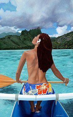 Paddling the Leaward side on Oahu