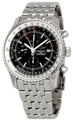 Men Watches : Breitling Men's BTA2432212-B726SS Navitimer World Chronograph Watch