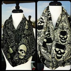 skull scarf I'd love to piss off the preps at my school with this c: