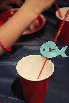Fish straw tags