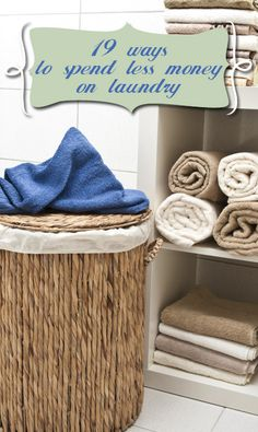 19 Ways to Spend Less Money on Laundry! Including homemade laundry detergent. No blender or grading needed!