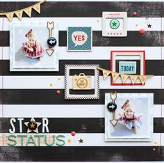 #papercraft #scrapbook #layout.  Star Status by adriennealvis at @Studio_Calico