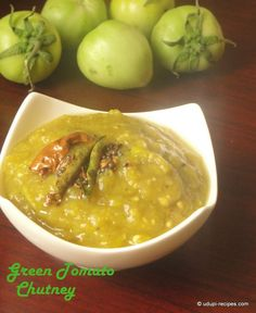 Green Tomato Chutney Recipe - Udupi Recipes