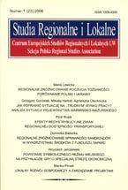 Wydawnictwo Naukowe Scholar :: :: 2006 STUDIA REGIONALNE I LOKALNE nr 1 (23) UWAGA!!! Do kupienia także w PDFie