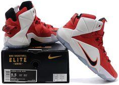 dc7dc9edb322 Lebron 12 PS Elite Shoes White Red Black1 Nike Lebron