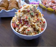 Barbells and Bellinis: Drunken Pimento Cheese (Bourbon Pimento Cheese)