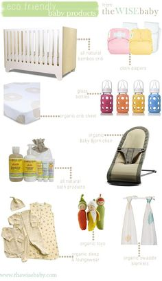 Eco friendly baby products for the natural mama in your life, nice baby shower gift ideas.