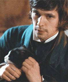 Ben Whishaw and a cat...☆...He is the best Q ever!...Q has cats in his London flat...☆