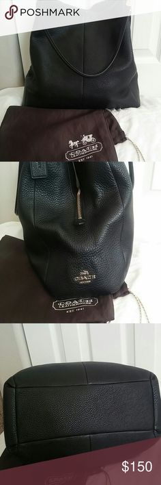 Coach Pebbled Leather Edie Shoulder bag EUC. No snags/stains/ware. Great Bag with 3 separate compartments. Gorgeous pebbled leather w/gold detail. Roomy and comfortable to wear. Price Frim Coach Bags Shoulder Bags