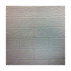 Graham & Brown Brick Paintable Wallpaper, White (352.980 IDR) ❤ liked on Polyvore featuring home, home decor, wallpaper, white, geometric wallpaper, geometric pattern wallpaper, paintable wallpaper, inspirational wallpaper and white textured wallpaper
