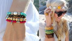 layered earthy accessories for the beach