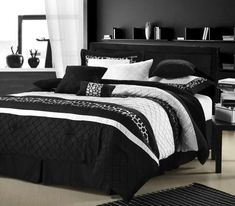 Cheetah Black and White 8-Piece Comforter Set - Out of Stock - Check out other luxury bedding sets at Bedding.com!
