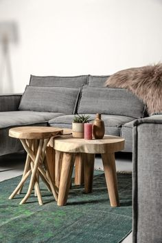 This Accent Stool brings nature into your home. It's legs consist of naturally shaped, twisted branches and bears a solid wooden seat. It is used the stool to sit on, as a footstool or even as a small table. Small Furniture, Small Tables, Teak Wood, Wood Grain, Branches, Light Colors, Natural Wood, Bears, Stool