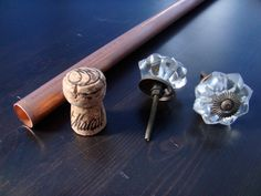 copper pipe curtain rod with drawer pulls or door knobs