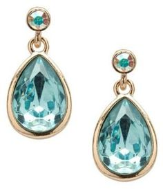 ShopStyle: Turquoise Crystal Drop Earring