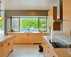 Exquisite Private House Design in Large Design: Light Oak Kitchen Cupboard Private Residence And Guest House